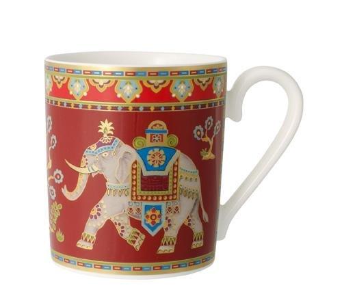 Villeroy & Boch 10-4731-9651 Samarkand Rubin Kaffeebecher, 0,3l, Premium Bone Porzellan