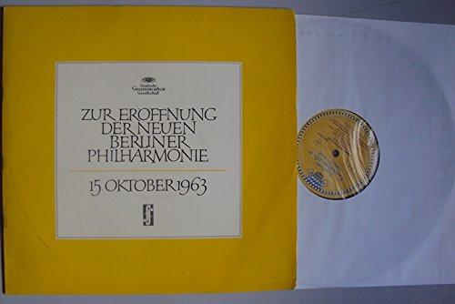 Karajan bei der Probe belauscht zur Aufnahme der 9. Sinfonie op. 125 4. Satz mit Schluss Chor - Zur Eröffnung der Neuen Philharmonie 15. Oktober 1963. Herbert von Karajan, Janowitz, Rössel Majdan, Kmenff, Berry. Tulip - Alle Hersteller Mono