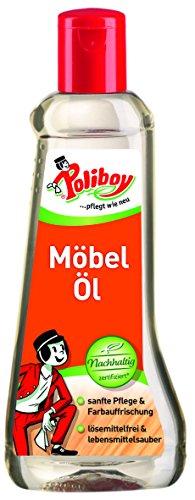 Poliboy - Möbel Öl - Holzpflegemittel für Naturmöbel - ohne Lösemittel - 200 ml - Made in Germany -