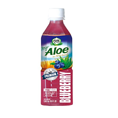 Pure Plus Aloe Vera Getränk mit dem Blueberry 500 ml x 20 Stück (Granatapfel-saft Aloe Vera)