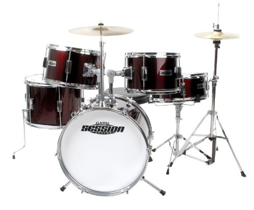 XDRUM J PRO R   SET DE BATERIA INFANTIL  COLOR ROJO