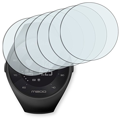 "6 x protectores pantalla Golebo para Polar M200. Lámina protectora adhesiva invisible ""Crystal Clear"". Fabricado en Alemania."