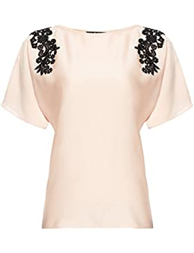 FIND Blusa con Blonda para Mujer
