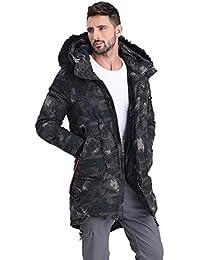 Abrigos Ropa/Hombre/Ropa Largo de algodón para Hombre Chaqueta de Invierno Camuflaje Chaqueta