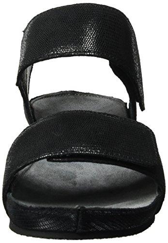 cashott - A17132, Sandali Donna Schwarz (Cairo Black 790)