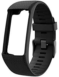 Kompatibel mit Polar a370 a360, Weiche Silikon Armband,Nourich Uhrenarmband Verstellbares Ersatzarmband Armbänder Fitness SmartWatch Atmungsaktive Wristband Zubehör Herren Frauen (Schwarz)