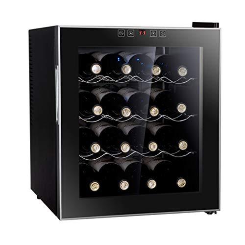 Cave à vin thermoélectrique 16 bouteilles - cave à vin rouge et blanc - cave à vin de comptoir - réfrigérateur autonome avec affichage numérique LCD