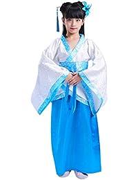 Yudesun Chino Estilo Tang Dinastía Bata - Unisex Niños Real Princesa Folk Disfrazk Escuela Baile Actividades