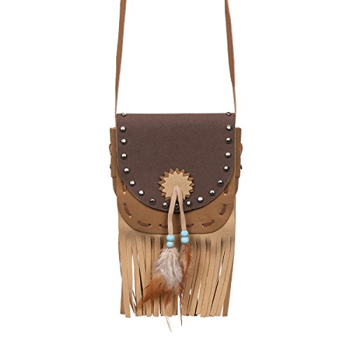 Kostümplanet Western Tasche Damen für Indianerin und Cowgirl Kostüm (Damen Kostüm Cowgirl)