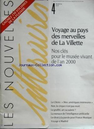 NOUVELLES (LES) N? 4 du 31-03-1986 voyage au pays ...