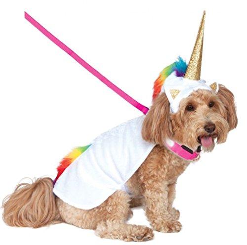 (Rubies Costume Company Einhorn Umhang mit Kapuze und Tricks Halsband Pet Kostüm)