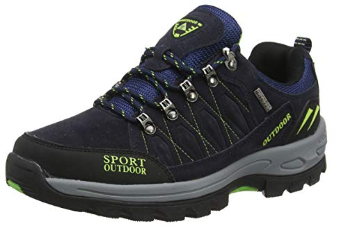 NEOKER Scarpe da Trekking Uomo Donna Arrampicata Sportive All'aperto Escursionismo Sneakers Blu 43