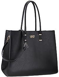 LI&HI Elegant Handtaschen Damen Handtasche Schwarz Handtasche Schule Shopper Damen Groß Schwarz Marken Handtaschen - 36x28x16 cm (B * H * T)