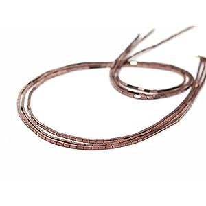 3x Hämatit Stränge – rechteckige Walze, 1×3 mm kupfer/4750g