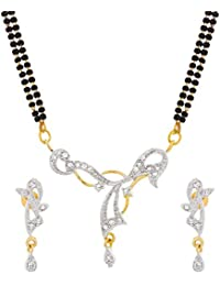 The Luxor Gold Plated Australian Diamond Studded Mangalsutra For Women