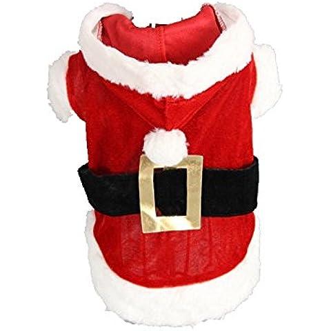 TANG imp Cucciolo Cane Rosso Natale Vestito