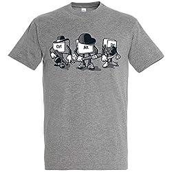 Pampling T-Shirt Computer Mafia - Maglietta Umore - 100% Cotone - Stampa Serigrafica di Alta qualità