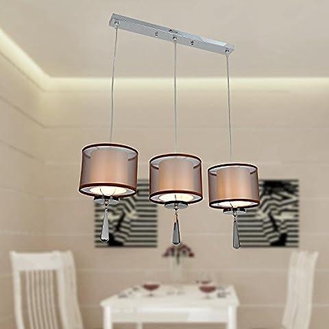 Lámpara cristal lujosa y elegante de estilo europeo moderado Lámpara de araña de 3 piezas para comedor Lámpara de araña cristal moderna para