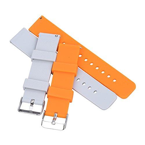 Uhrenarmband Werkzeug 22mm (Randon Silikon Uhrenarmband Soft Rubber Schnellwechsel Ersatzband 18mm 20mm 22mm mit Riemen Werkzeug, 2 Stück …)
