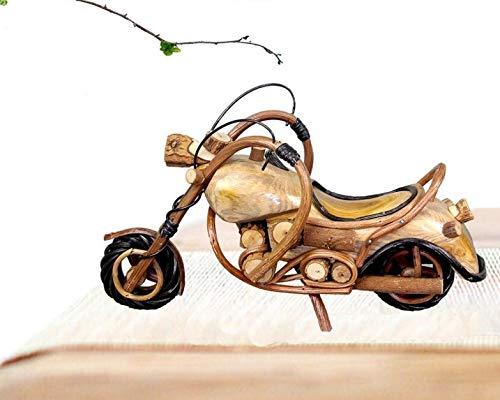 DMMW Artigianato Thai casa Decorazione Morbida Artigianato in Legno Modello di Moto Ornamenti Harley Modello di Moto (Size : S)