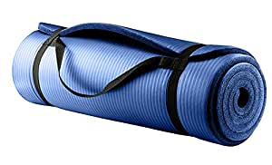 Frokht Yoga Mat NBR 10mm, Best Quality And Anti-Slip Exercise Mat With Carrying Strap (Blue)