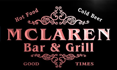 u29694-r-mclaren-family-name-bar-grill-home-beer-food-neon-sign-barlicht-neonlicht-lichtwerbung