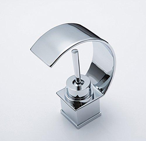 XIAOQI Waterfall Chrome Basin Washbasin Faucet Single Hole Bathroom Faucet Hot And Cold Water Mixer