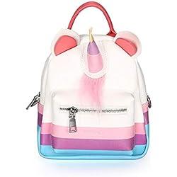 FORLADY Sac a dos enfant Maternelle sac à dos broderie 3D dessin animé mignon licorne matériel de plongée enfants sac à dos voyage sac à dos (néoprène/paillettes)
