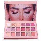 SMILEQ Beauty 18 Color Eye Shadow Plate Powder Matte Makeup Pearl Metallic Eyeshadow Palette (Multicolor)