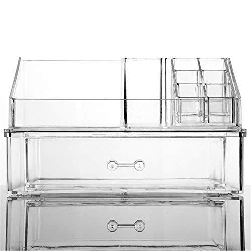 SHALU Transparent Acryl Schublade Kosmetische Aufbewahrungsbox Hautpflege Finishing Box 22 *   12,5 * 13 Cm Transparent - Schublade Montage-kit