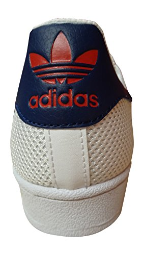 Baskets Superstar Adidas Originales Pour Hommes S31641 Baskets Blanc Bleu Rouge Bb5393