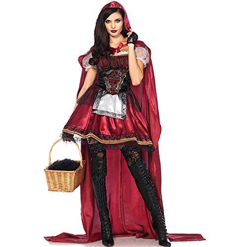 Adult Des Clubs Kostüm Königin - BGROEST-cloth Umhang Kleid Damen Halloween Kostüm Cape Rotkäppchen Königin Kostüm Cosplay