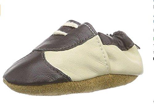 FREE FISHER Chaussures souples bebe chaud chaussons en cuir doux enfant unisex Beige - Beige