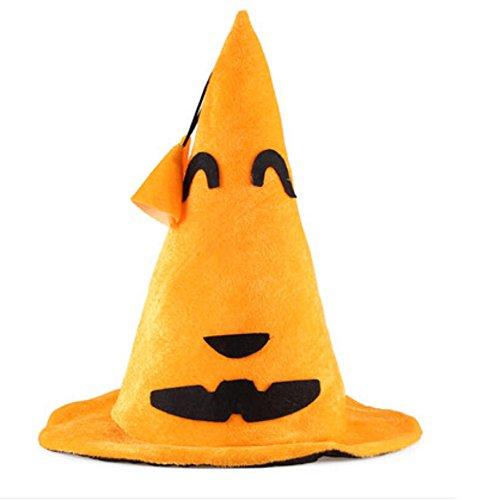 Peluche Jack-O-Lantern Chapeau Halloween Pumpkin Cosplay Party Hat Accessoire Cuspide