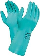 """Ansell HNPAN-37-6769 Solvex Nitrile Gloves, 9"""""""