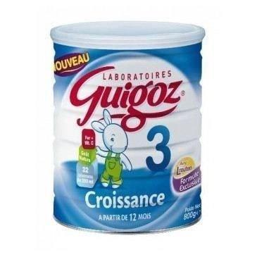 Guigoz Croissance Poudre - Lait 3 dès 12 Mois - Boîte de 800 g