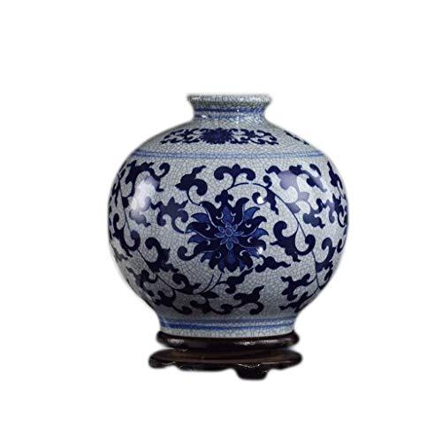LQQGXL Florero cerámica florero Hecho Mano. Jarrón