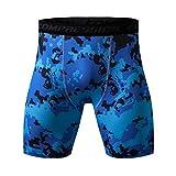 Yazidan Shorts für Männer gedruckt Workout Leggings Fitness Sport Laufen Yoga athletisch Kurze Hosen Kurze schnell trocknende Kompressions Fitness Shorts für Herren