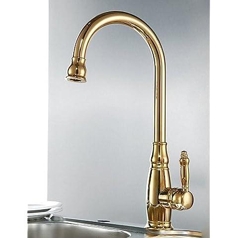 bian-classic monocomando alta arco rubinetto per lavello