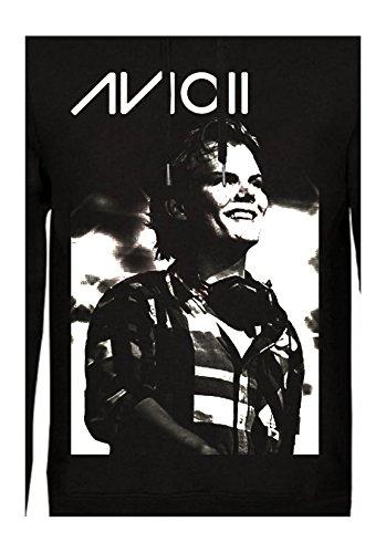 AVICII - SWEAT CAPUCHE NOIR AVICII SMILE