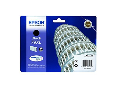 Epson WorkForce Pro WF-4630 DWF (79XL / C 13 T 79014010) - original - Ink cartridge black - 2.600 Pages - 41,8ml
