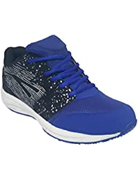 Sports 303 Black And Blue Marathon Running Shoes