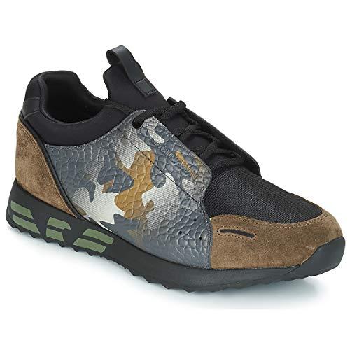 Emporio Armani Livio Sneaker Herren Kaki - 44 - Sneaker Low
