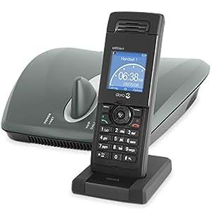 DORO ip880dect Téléphone sans fil/téléphone VoIP avec appel en instance et identification de l'appelant DECT SIP, SIP v2 noir