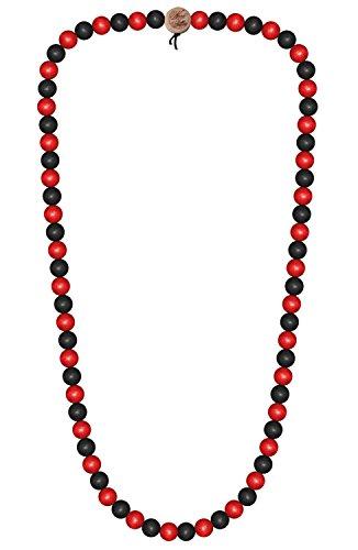 WOOD FELLAS Unisex Deluxe Holz-Perlenkette black/red 6mm