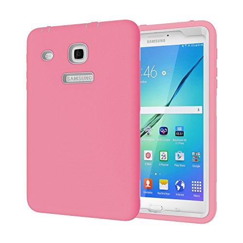 Galaxy Tab E 8.0Fall, beimu 3in 1Hybrid Armor Defender Schutz Cover für Samsung Galaxy Tab E 20,3cm sm-t377a/P/R/T/V Verizon/Sprint/US Cellular/at & T/T-Mobile 8Zoll Tablet, Pink+Grey Nfl Mobile Fall