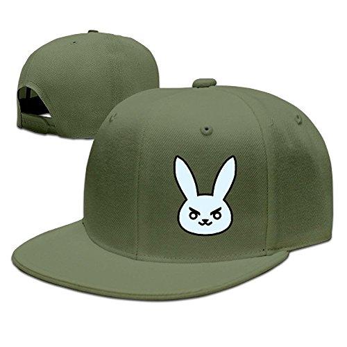 Nubia Cartoon over2016watch Rabbite Custom Trucker Hat Verstellbare Flach Bill Hat Rot, Herren, ForestGreen
