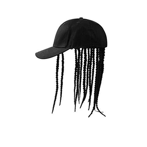 Dreadlocks, Kopfseil Band Reggae Street Dance Hip Hop Baseballmütze (Farbe : SCHWARZ) ()