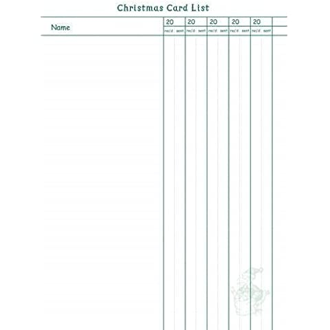 Dodo Book of Christmas - Christmas Card List Refill Sheets (Dodo Pad) (2011-06-20)