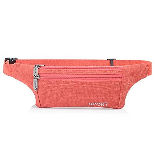 Canvas Herrentaschen Mode lässig Outdoor Sporttasche Ultraleicht ultradünne Herrentasche Wassermelone rot